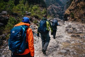hiking to namche bazar bridge