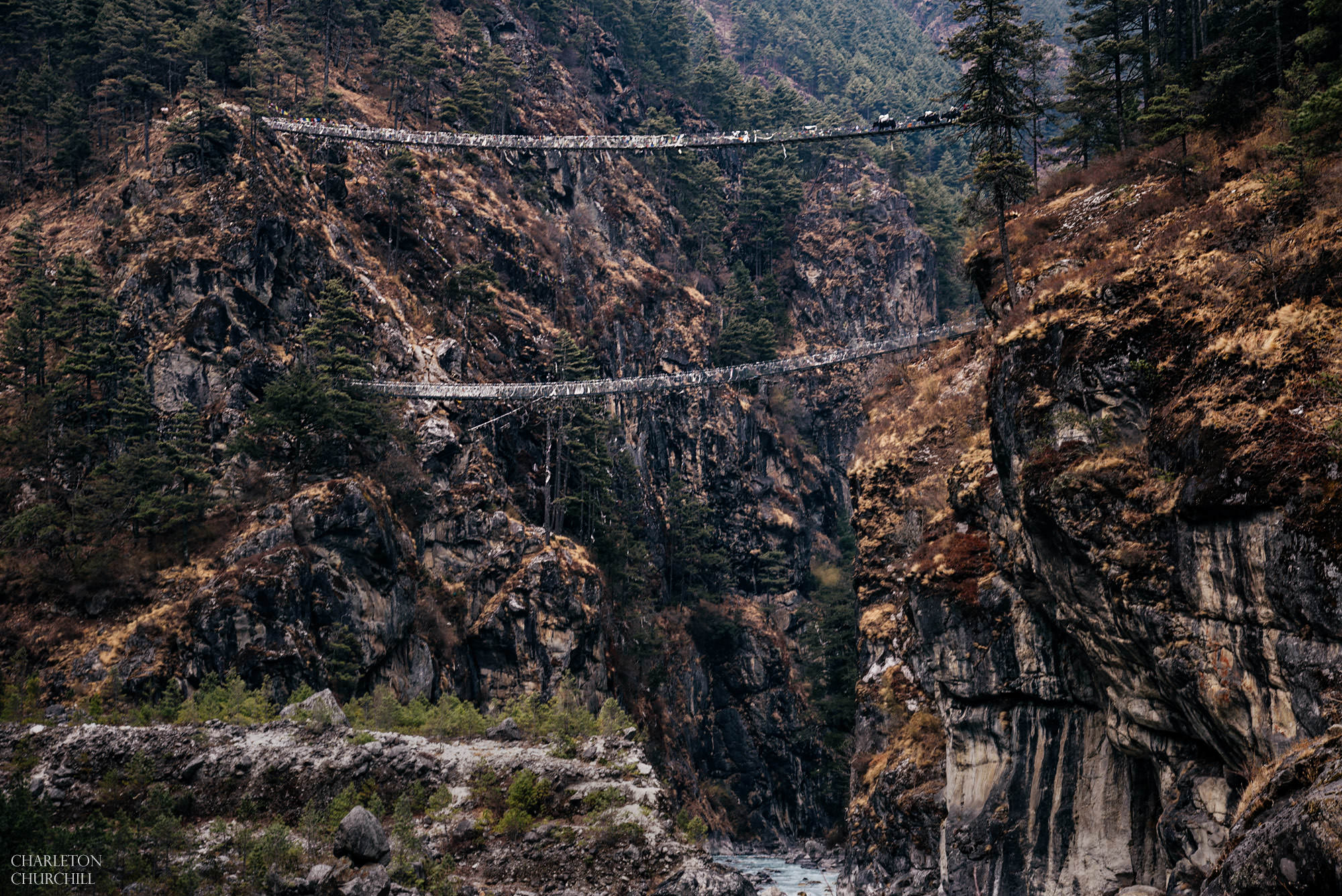 dangerous bridges to namche bazar