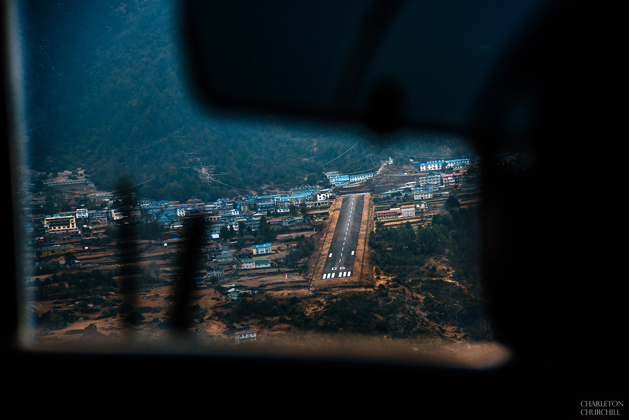 landing pad at lukla airport the shortest runway most dangerous