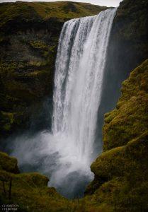 skogafoss waterfall by Charleton Churchill