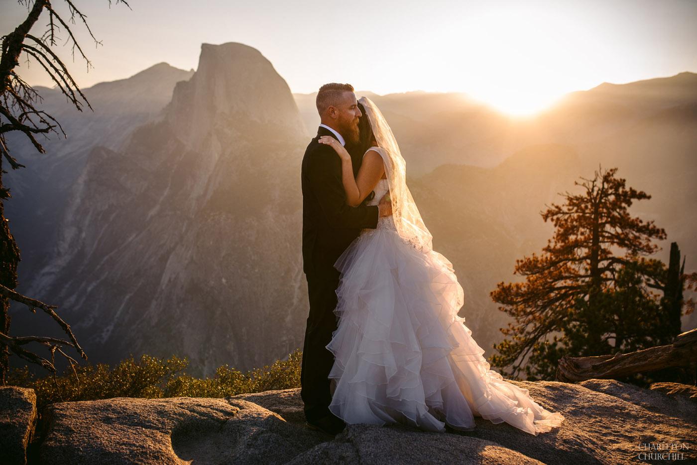 epic wedding photography at yosemite glacier point