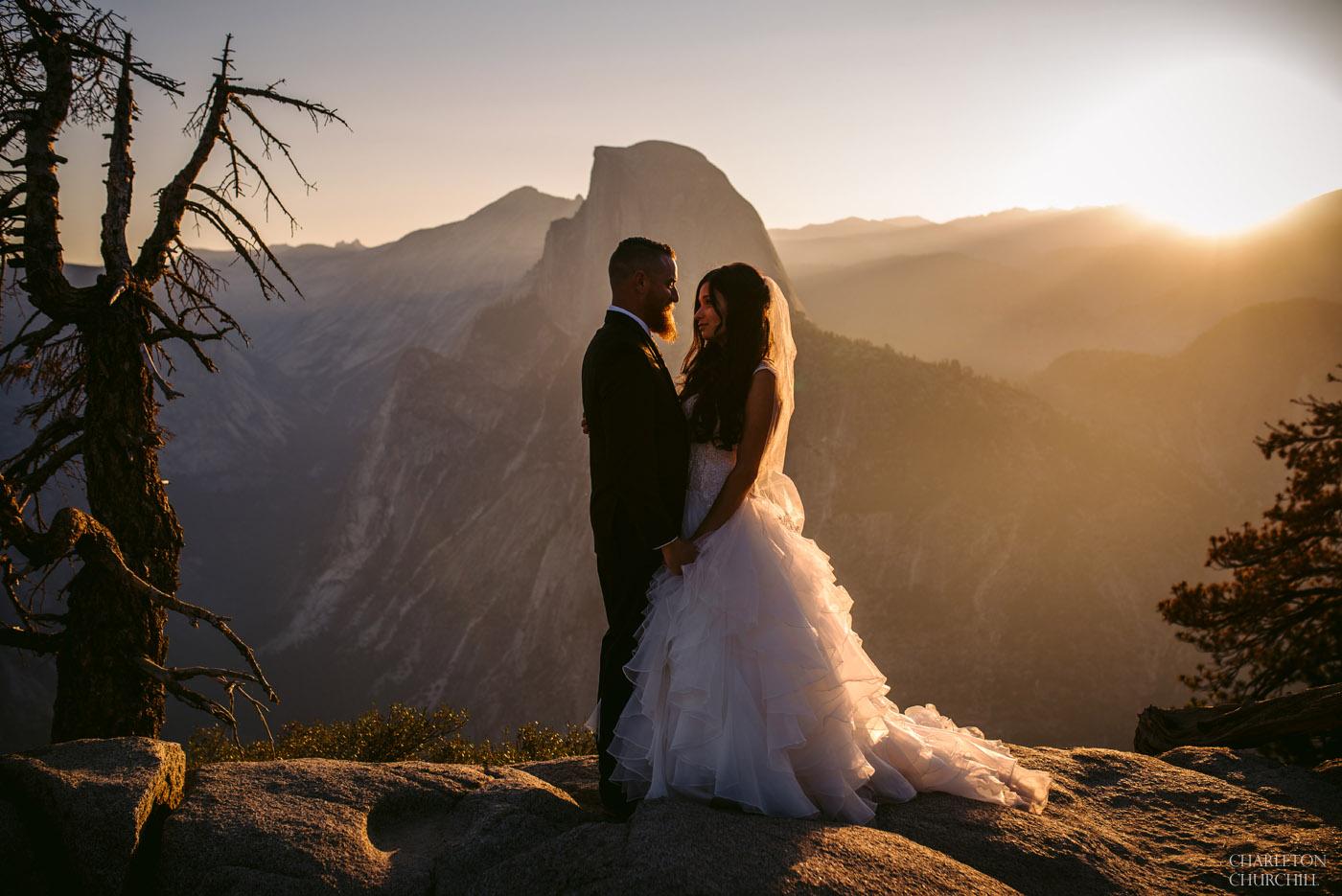 adventure wedding photography in Yosemite National Park