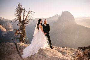 half dome and glacier point wedding photos
