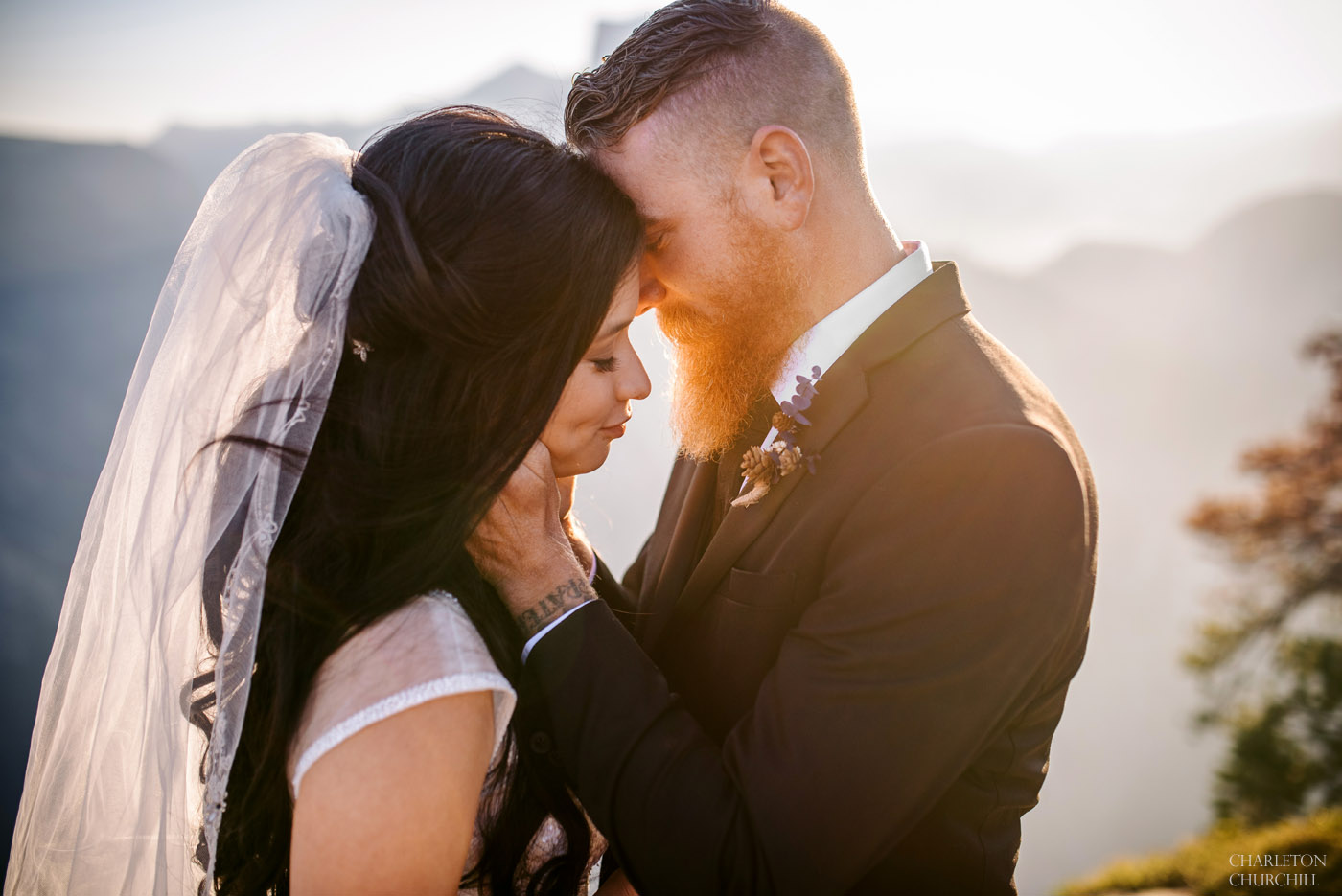 yosemite national park intimate wedding photos