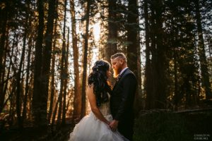 yosemite elopement photos in the forest