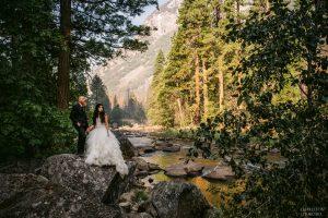 wedding day in Yosemite