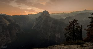 landscape photo of half-dome from glacier point by charleton churchill photography