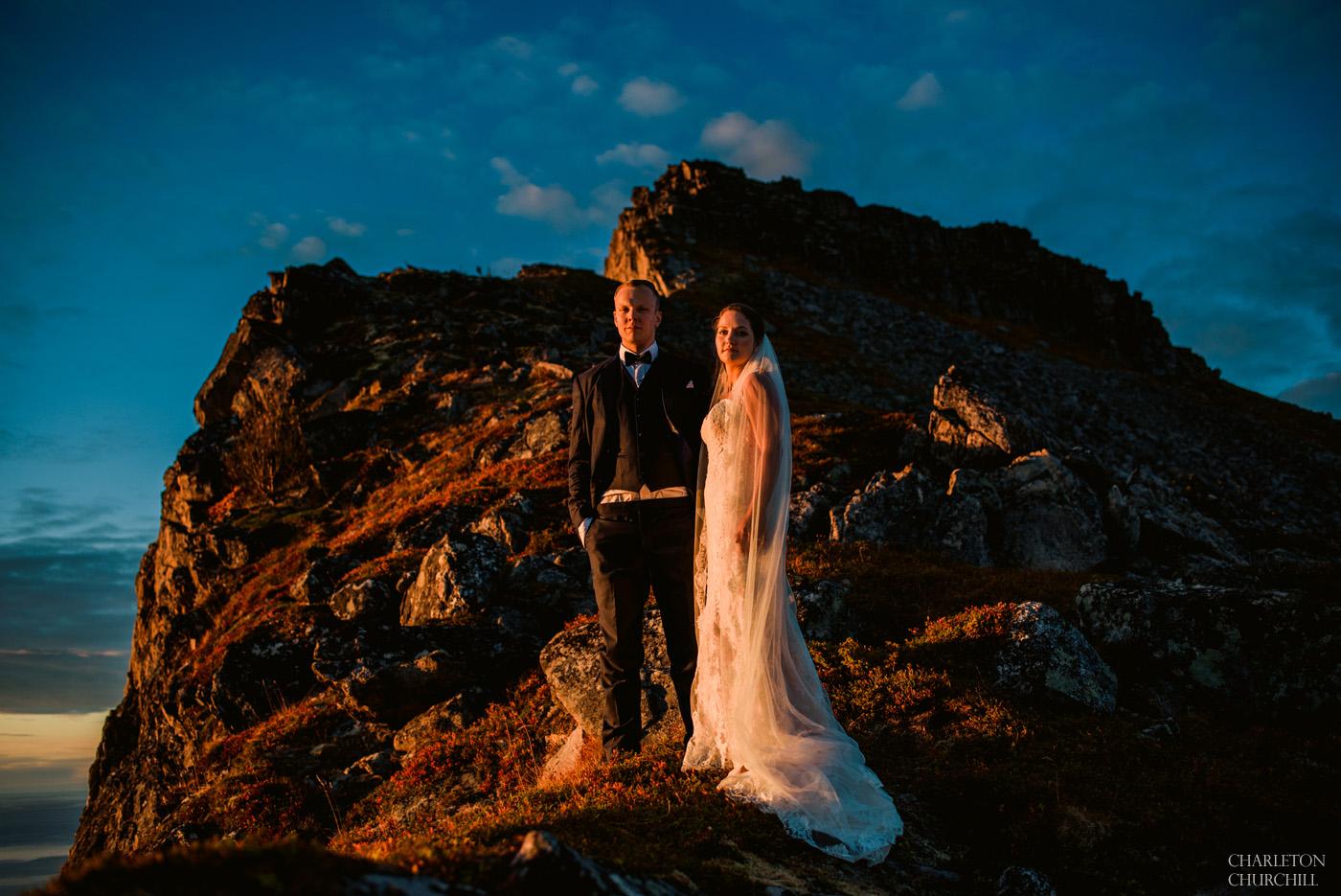 sunset natural light images in destination wedding