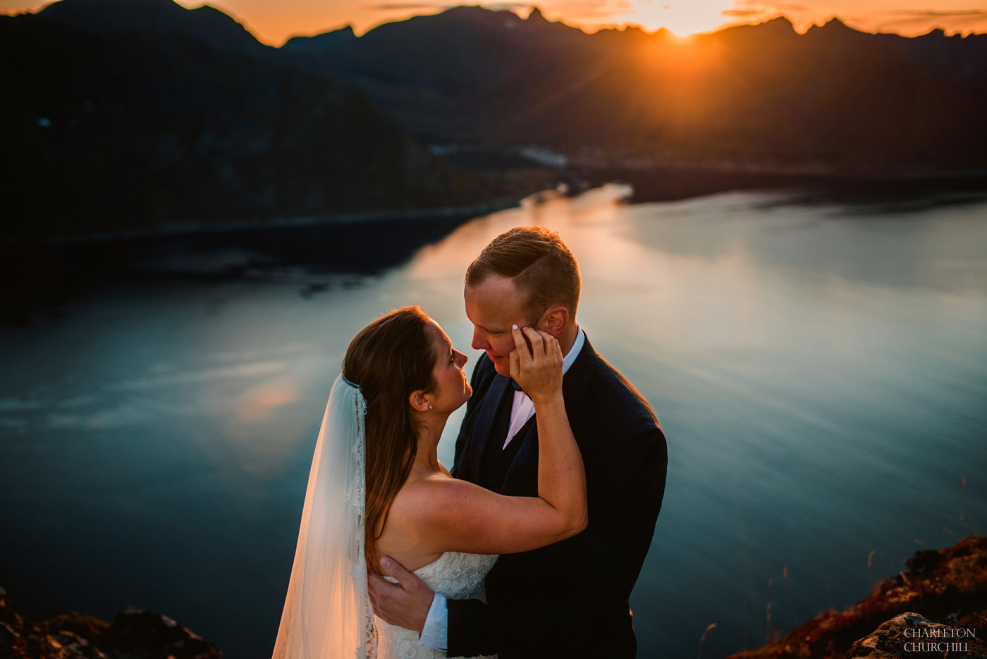 norway fjord wedding photos