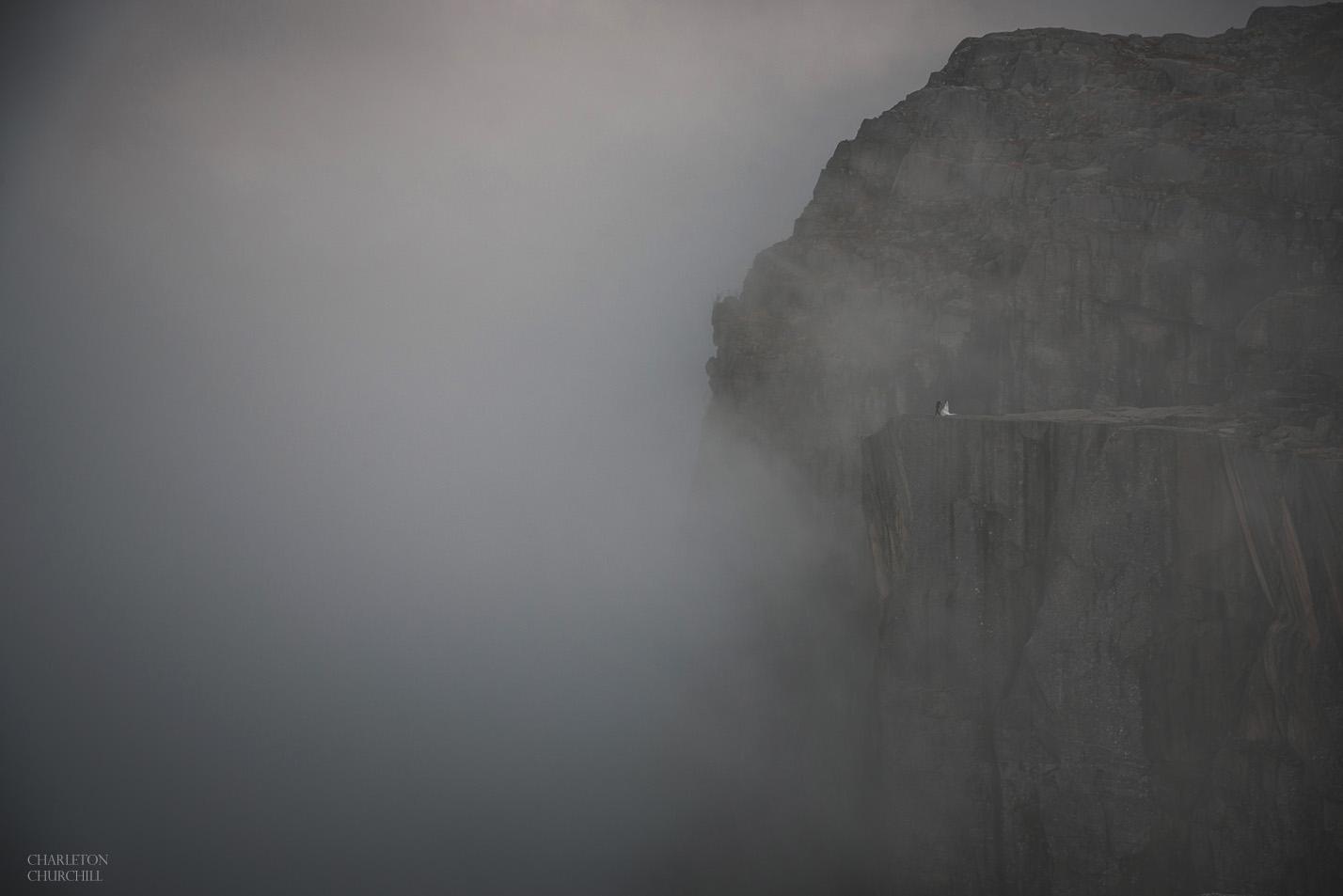 Preikestolen in the fog