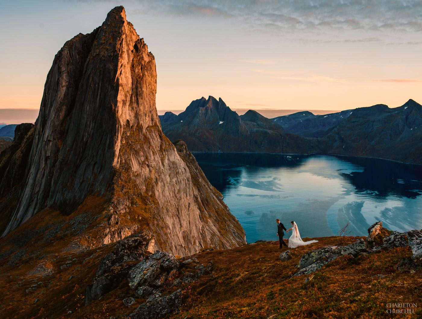 adventure wedding photography in Tromso senja region of Norway