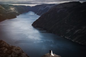 norway fjords wedding photography epic adventure photos of elopement