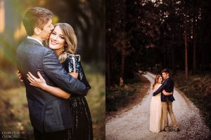 cute engagement photos bhldn dress
