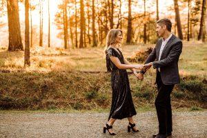 flirty photos of engaged couple