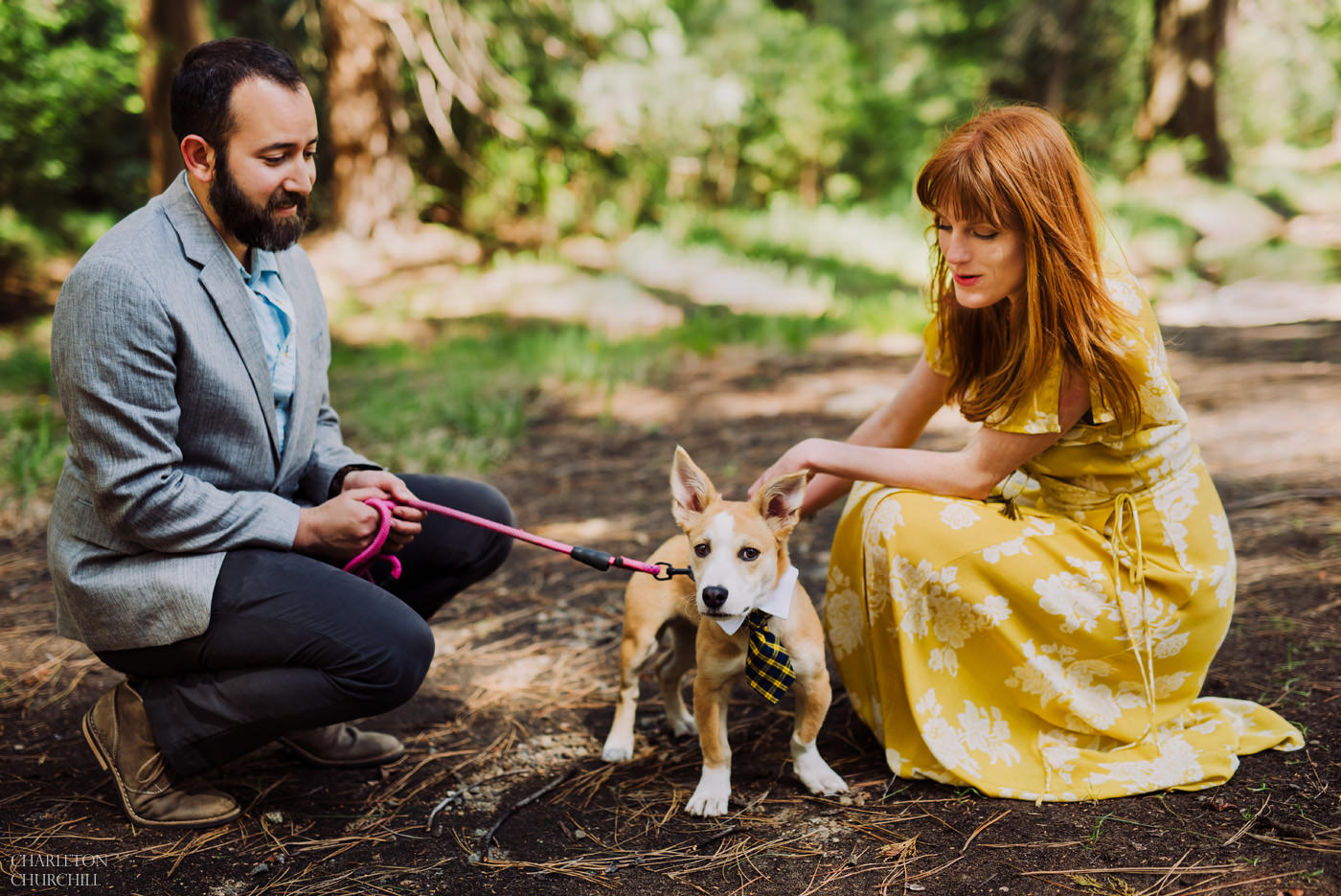 bringing a dog to your engagement photo session