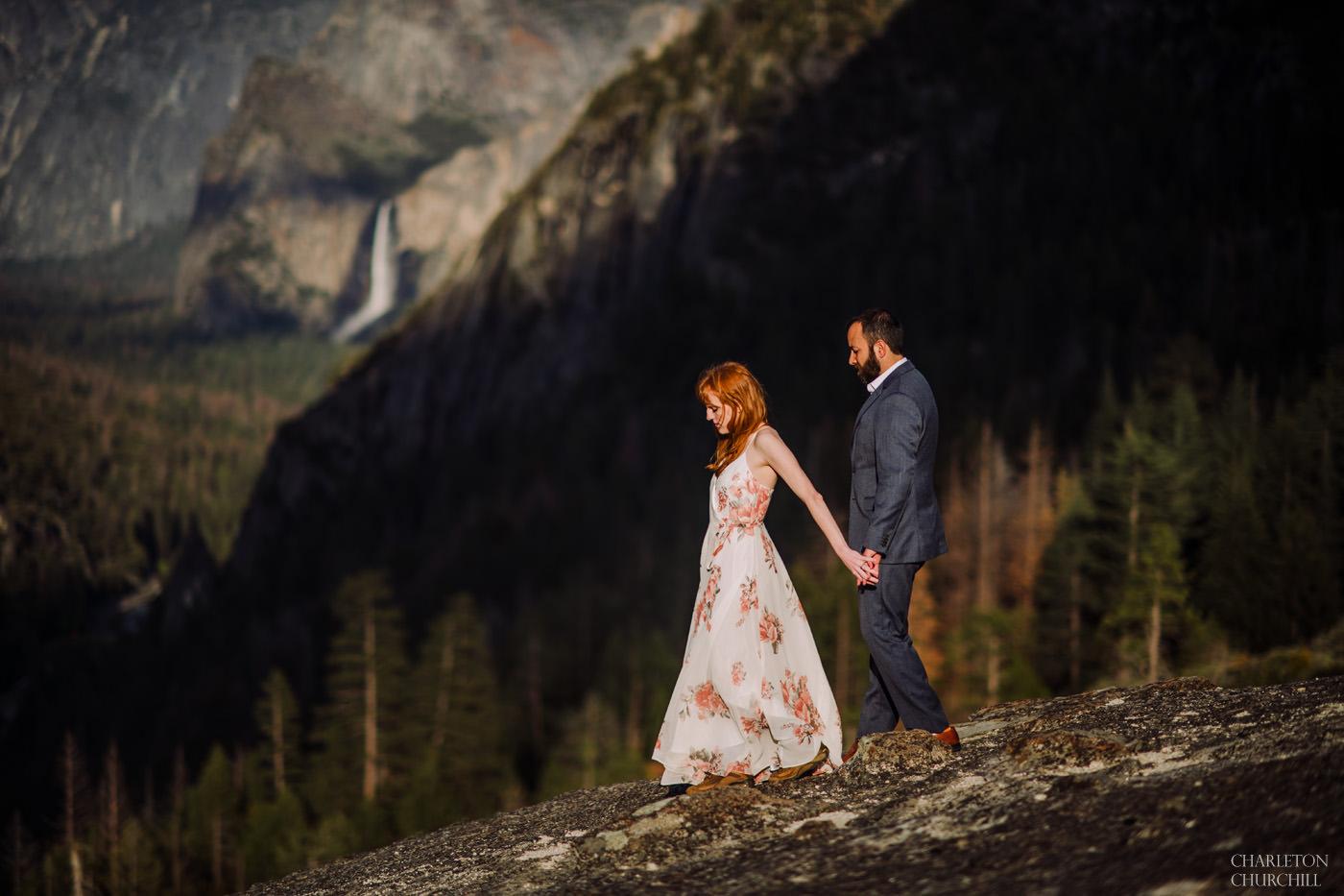 epic boho styled engagement photos in Yosemite National Park