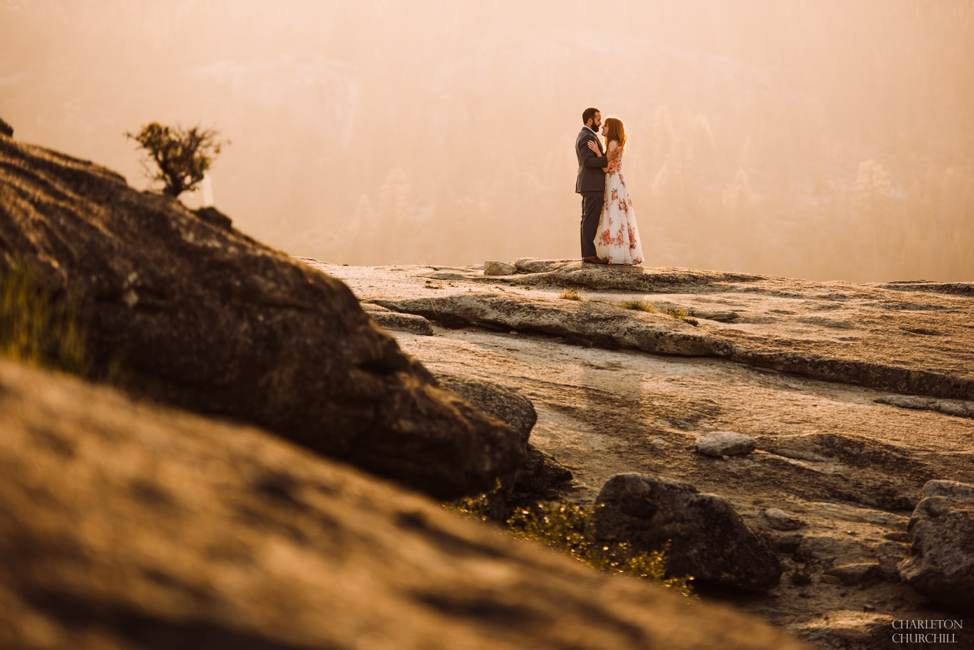 bohemian style engagement photography in Yosemite National park