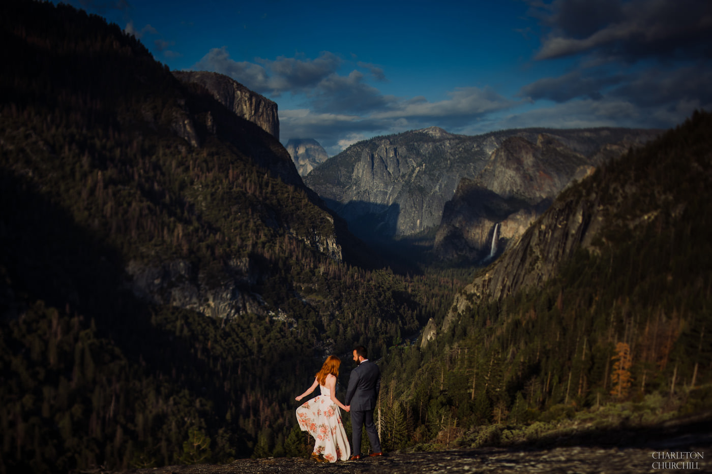beautiful engagement photos in Yosemite for elopement or weddings with locations most tourists don