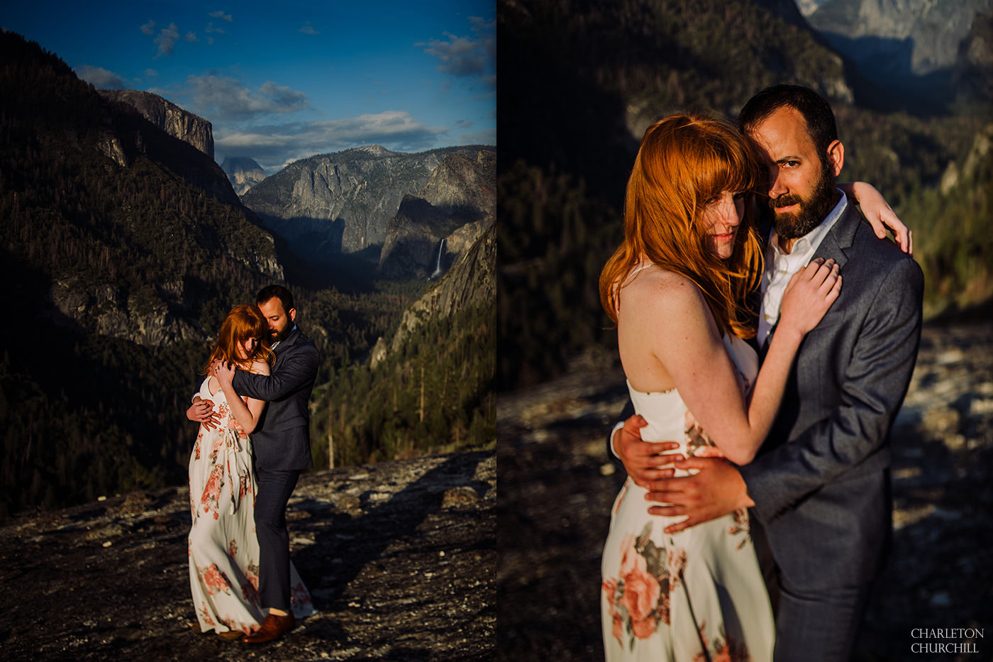 beautifully romantic engagement photos in America the great parks