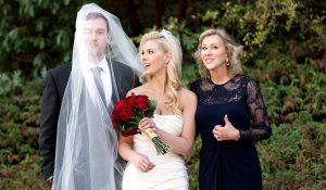 family portraits at wedding