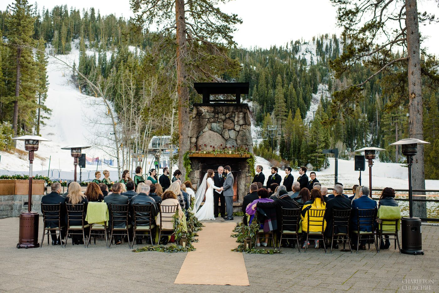 wedding ceremony at Resort at Squaw Creek Olympic valley