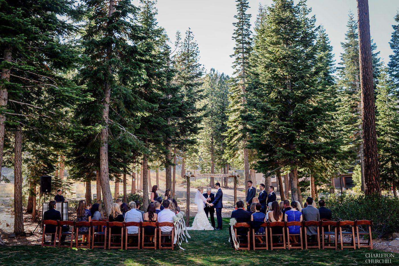 wedding ceremony at ritz carlton tahoe in truckee, ca