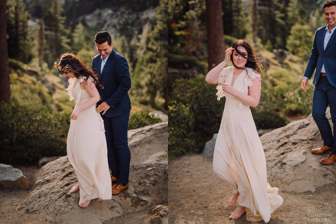 candid natural moment of wedding couple creative photos in tahoe north shore