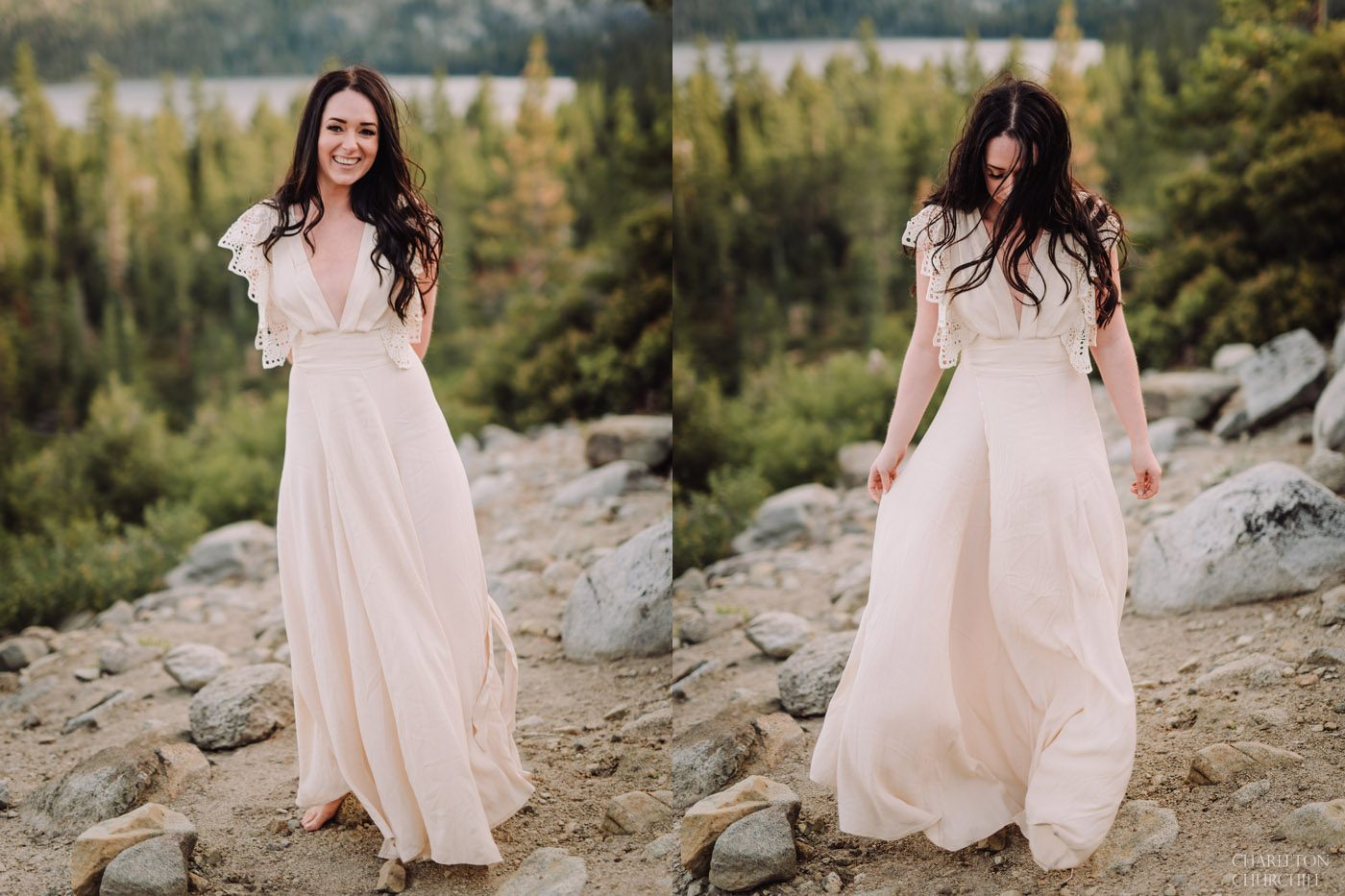beautiful whimsical bridal photos boho style