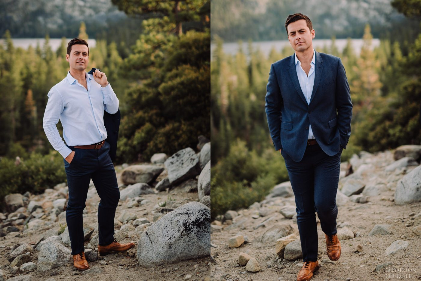 classy man photos styled and dressed for mountain photos