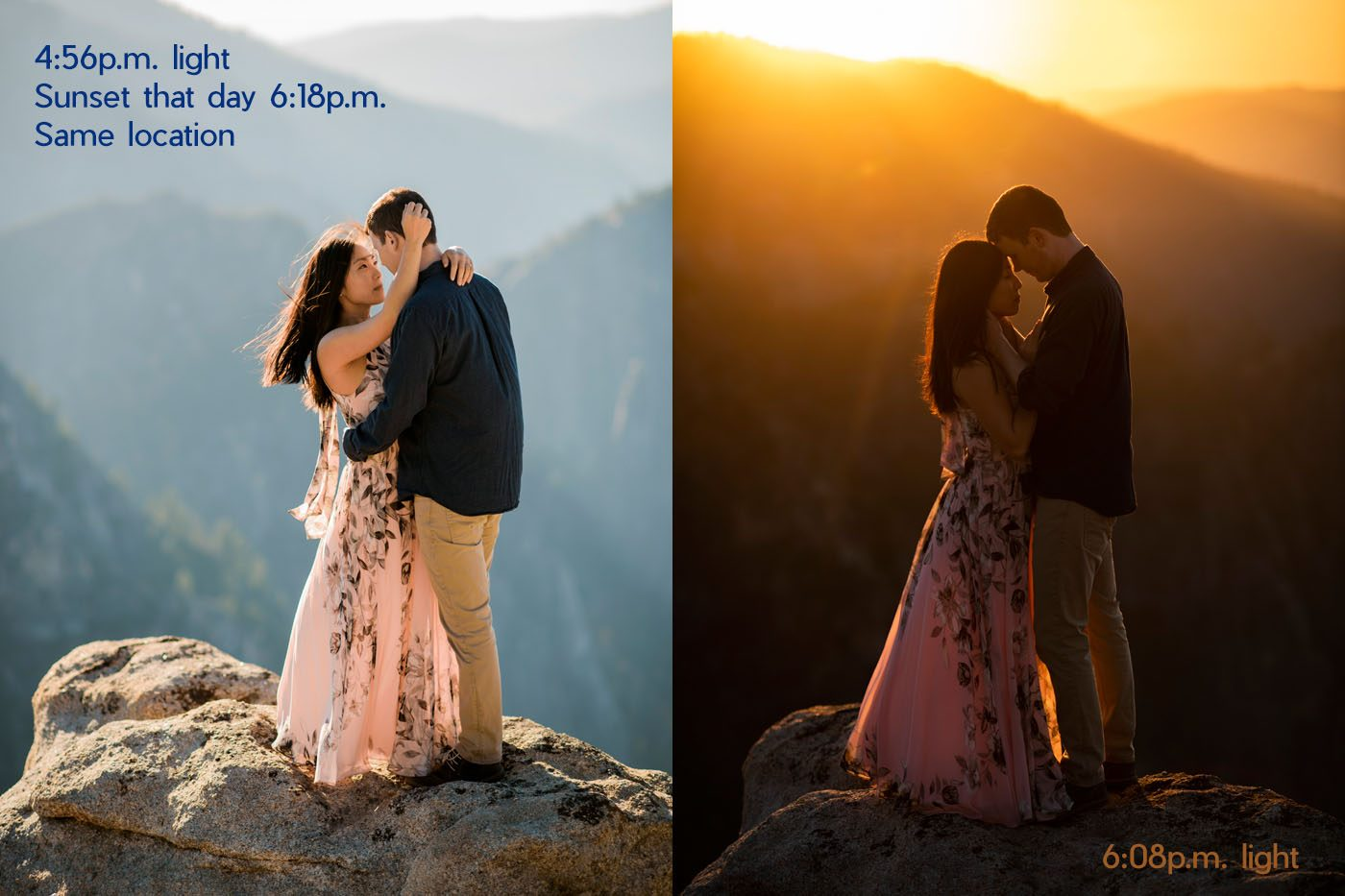 sunset photos for wedding and elopement couples photography